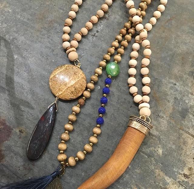 image long necklace