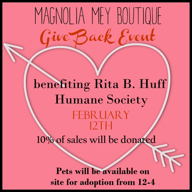 Magnolia Mey Give Back Flyer
