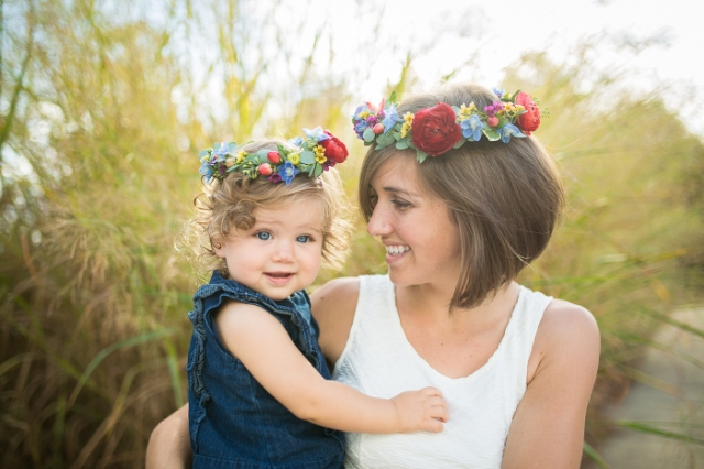 floral crown mother daughter