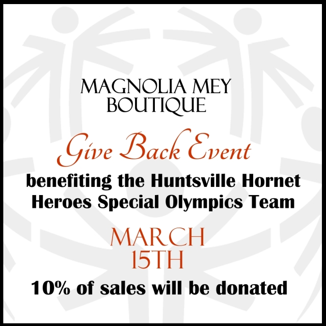 Magnolia Mey Give Back Flyer Special Olympics