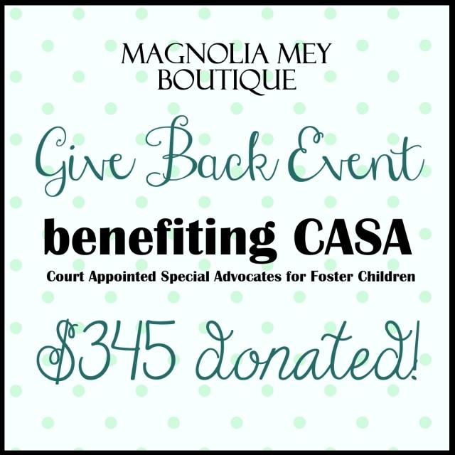 Magnolia Mey CASA donation