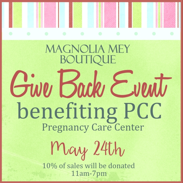 Magnolia Mey Give Back Flyer - PCC
